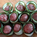 Gehaktballetjes gerold in courgette